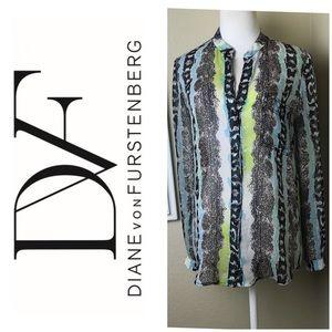 Diane Von Furstenberg Gorgeous Top. Sz 2